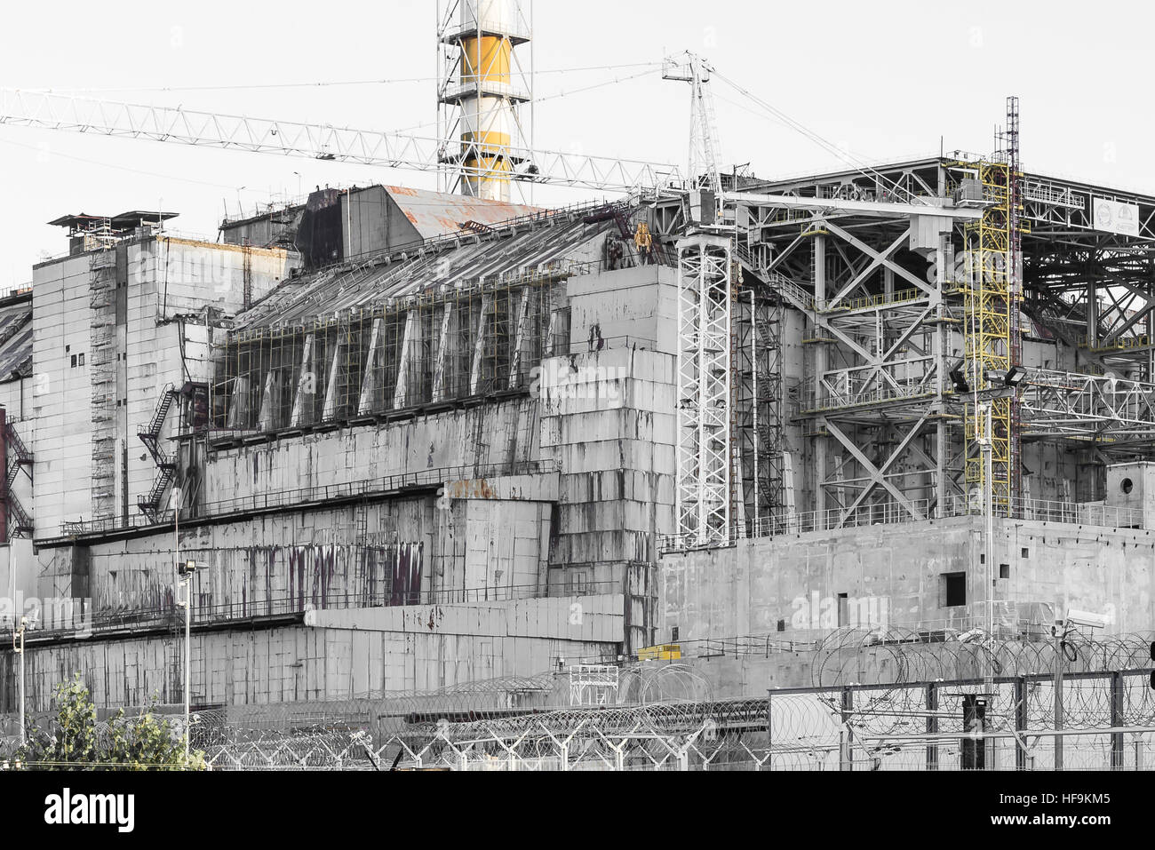 Old sarcophagus of Chernobyl - Stock Image