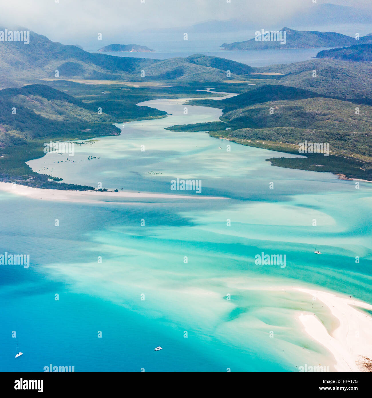 Whitsunday Islands, Whitehaven beach, Queensland, Australia - Stock Image
