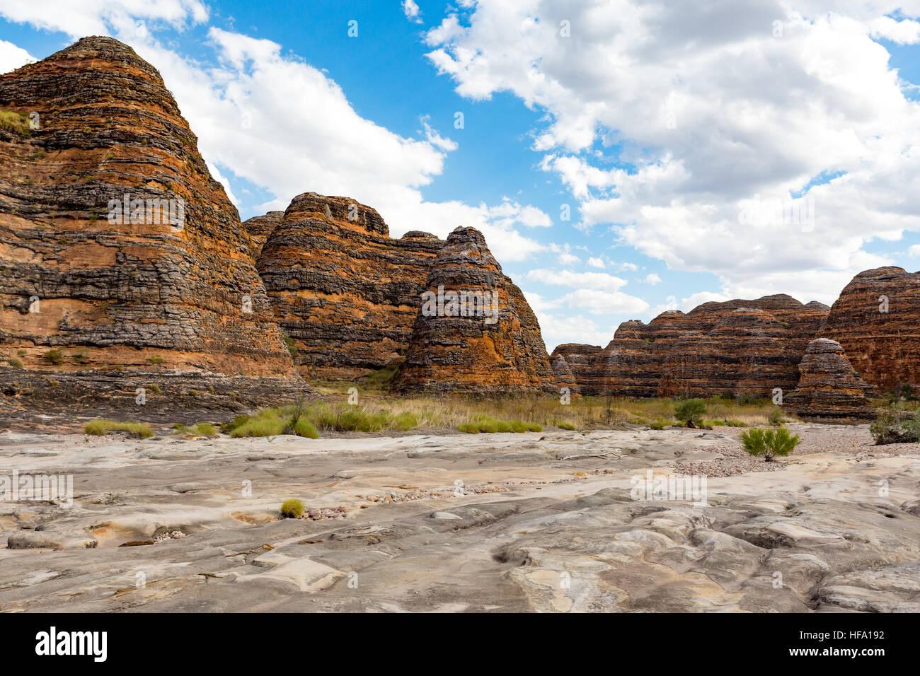 Bungle Bungles, Purnululu National Park, Kimberley, Western Australia - Stock Image