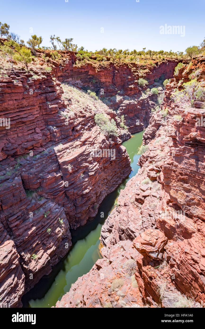 Joffrey Gorge, Karijini, Western Australia - Stock Image