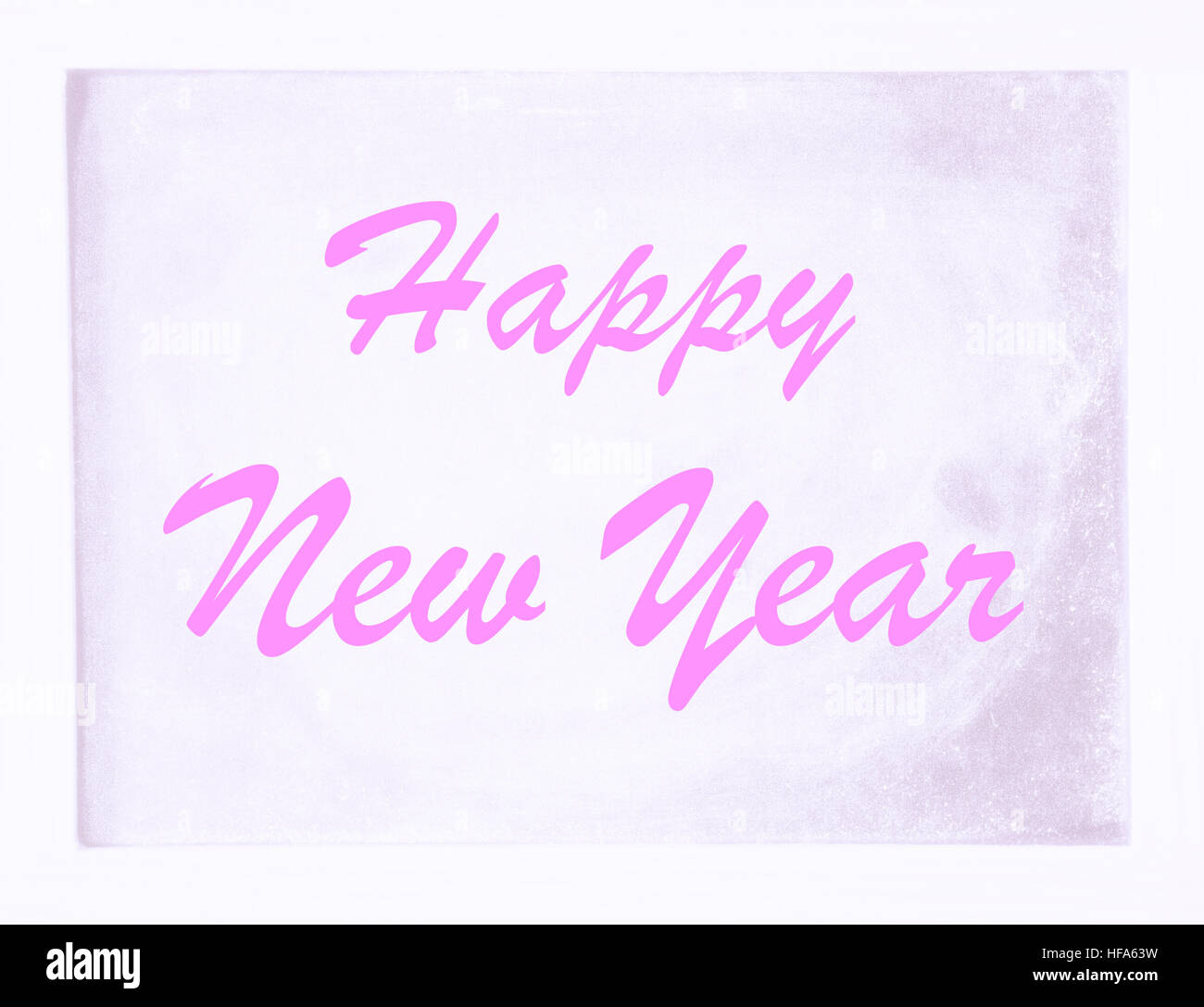 the words \'Happy New Year\' written on white board Stock Photo ...