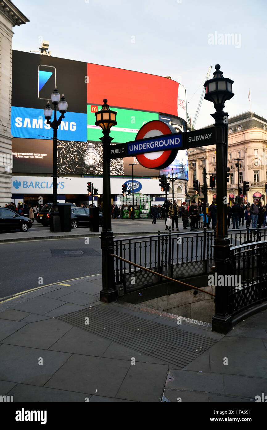 Underground entrance in Piccadilly Circus - Stock Image
