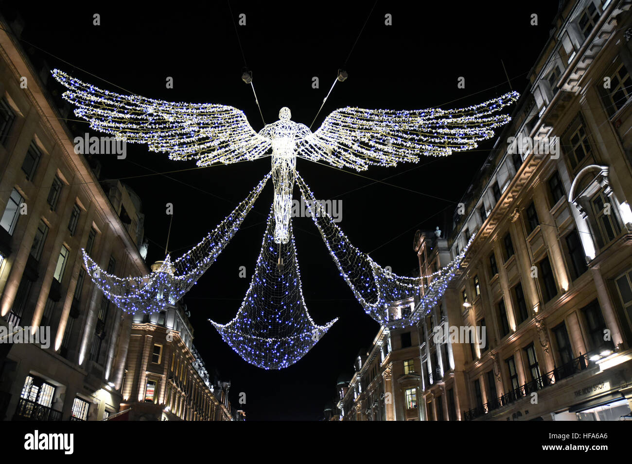 Regent Street Christmas lights - Stock Image