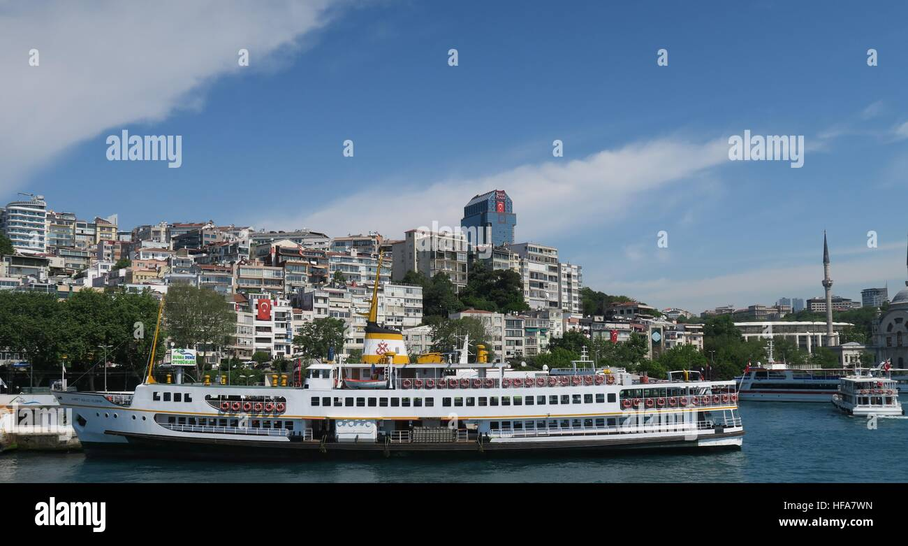 Karakoy Ferry Station at the Bosphorus in Istanbul, Turkey - Stock Image