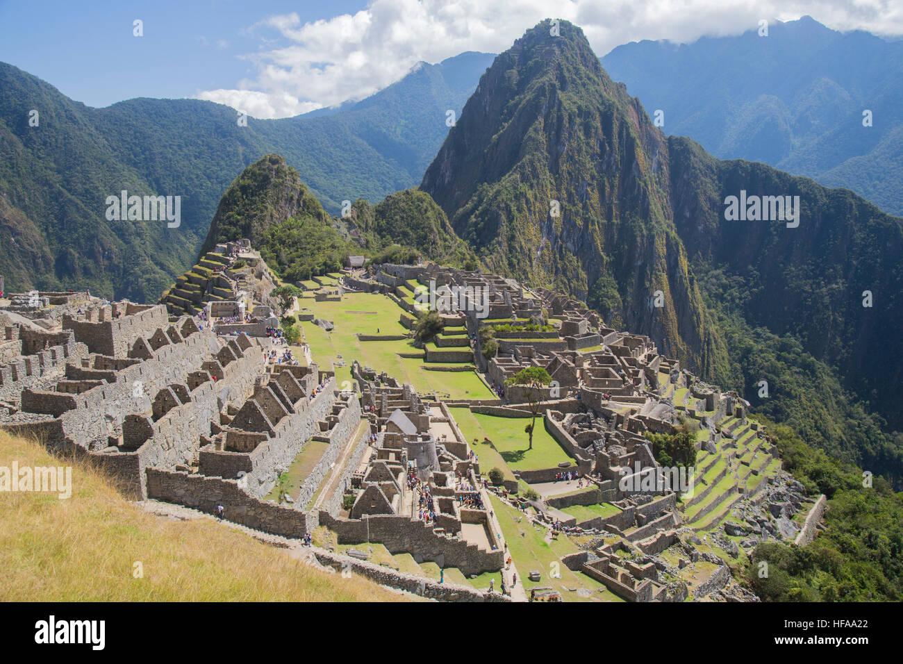 View of Machu Picchu - Stock Image