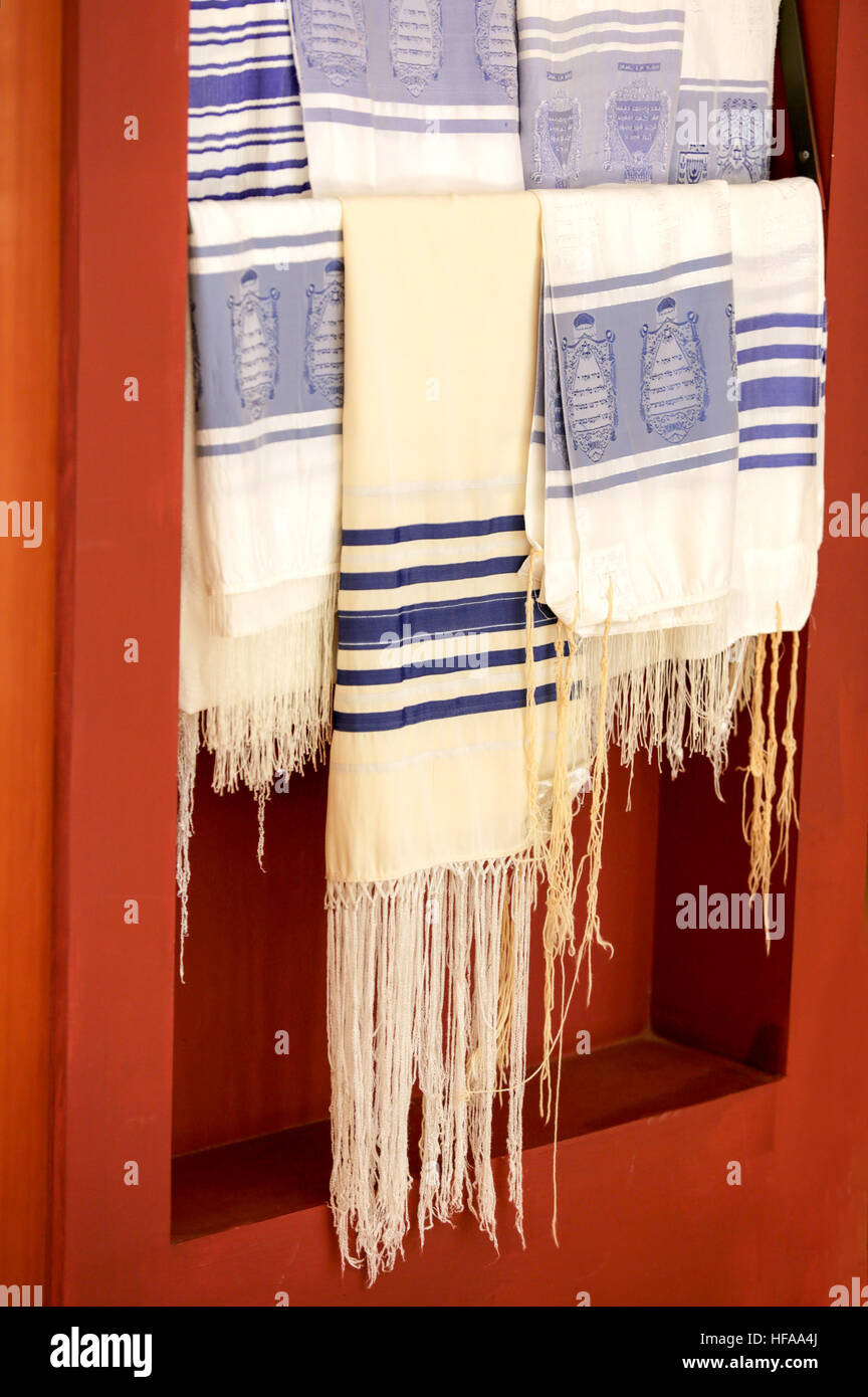 Judaism. Several Talitot - Stock Image