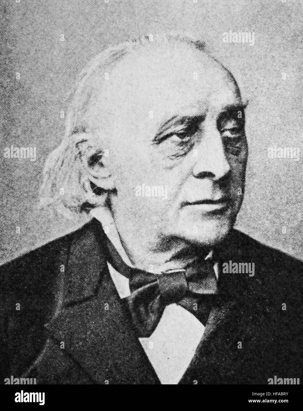 Christoph Ernst Luthardt, 1823-1902, German Lutheran theologian, reproduction photo from the year 1895, digital - Stock Image