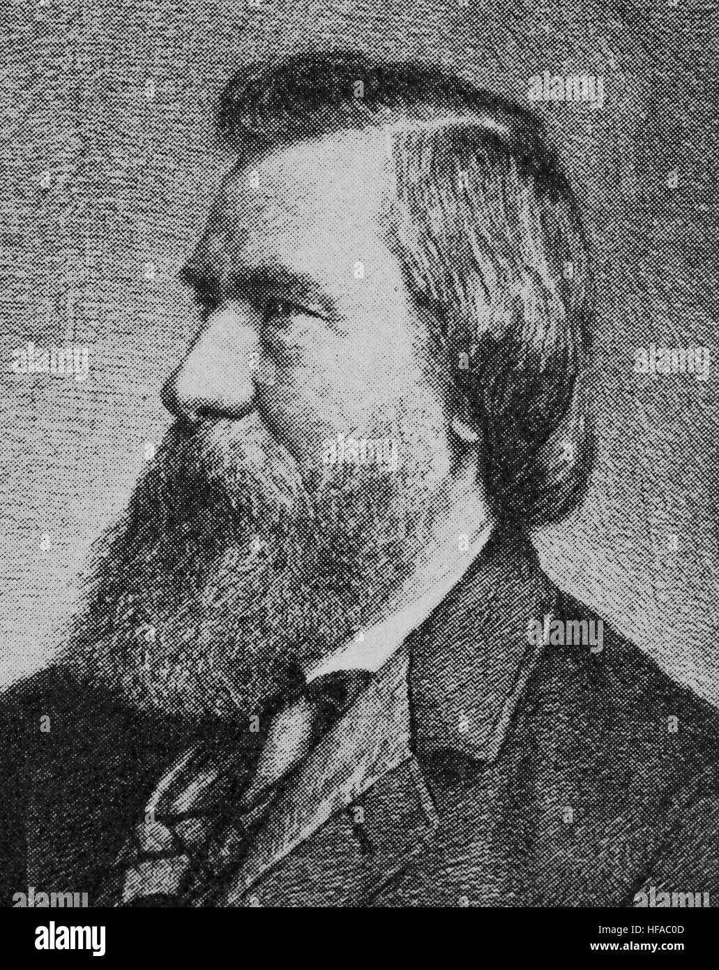 Moritz Lazarus, 1824-1903, born at Filehne, in the Grand Duchy of Posen, was a German philosopher, psychologist, - Stock Image