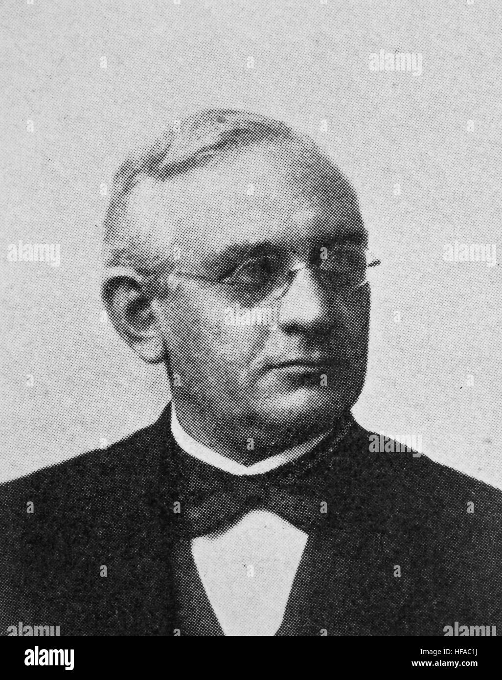Friedrich Paulsen, 1846-1908, a German Neo-Kantian philosopher and educator., reproduction photo from the year 1895, - Stock Image