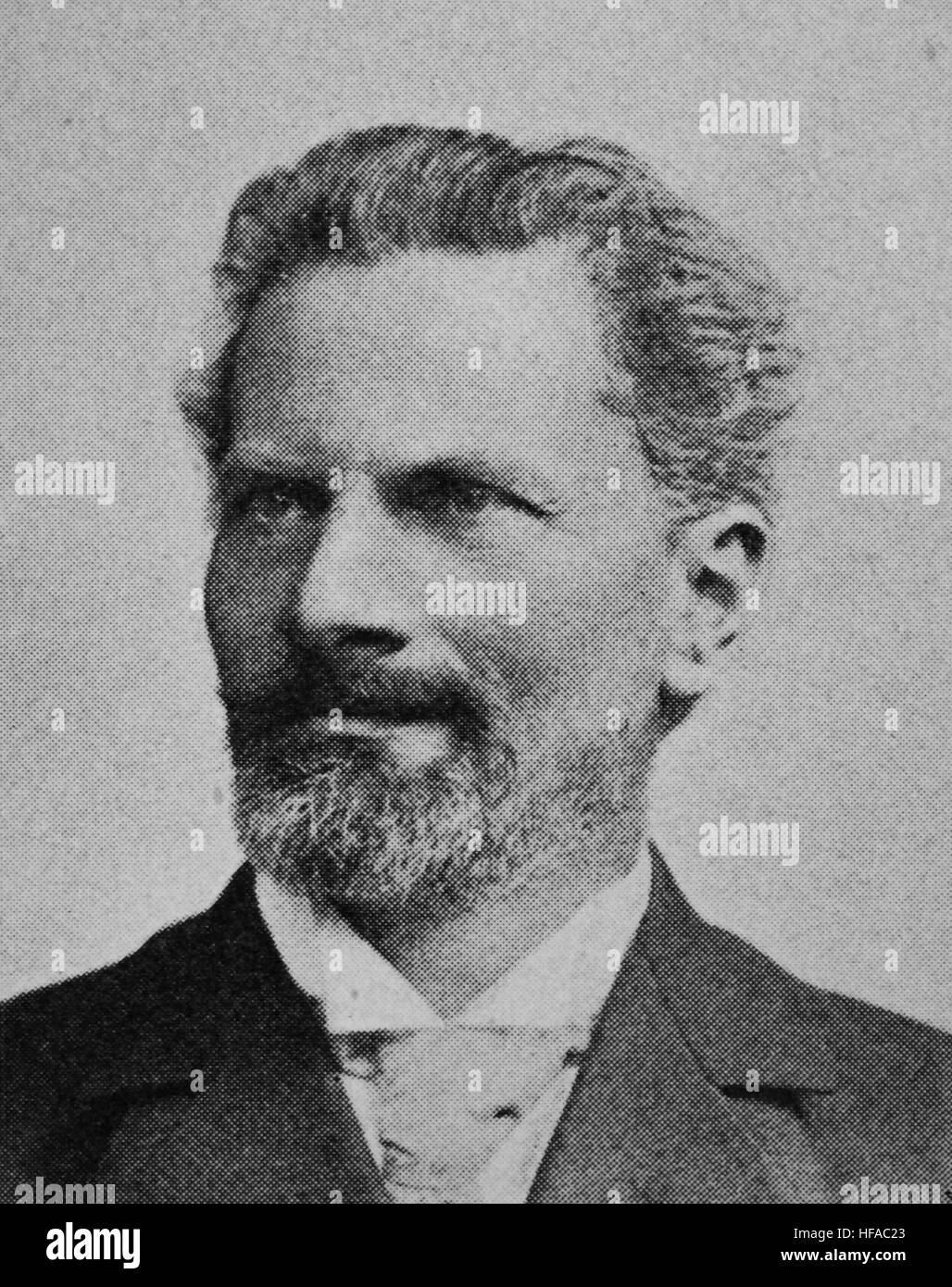 Alois Adolf Riehl, 1844-1924, an Austrian Neo-Kantian philosopher, reproduction photo from the year 1895, digital - Stock Image