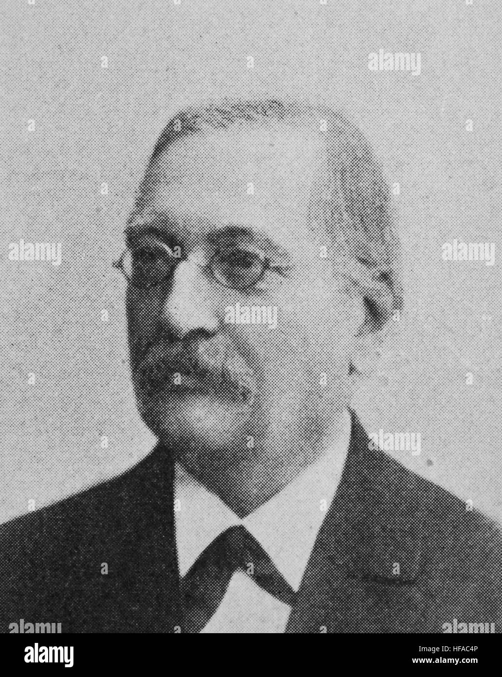 Paul Hinschius, 1835-1898, German jurist, reproduction photo from the year 1895, digital improved - Stock Image