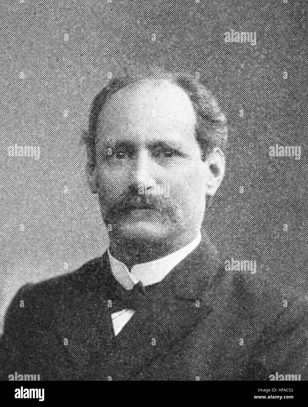 Edgar Loening, in 1843-1919, a German jurist., reproduction photo from the year 1895, digital improved - Stock Image