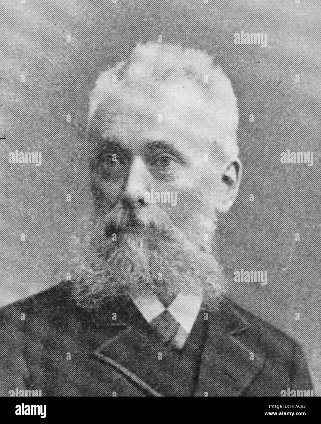 Paul Hollmann, reproduction photo from the year 1895, digital improved - Stock Image
