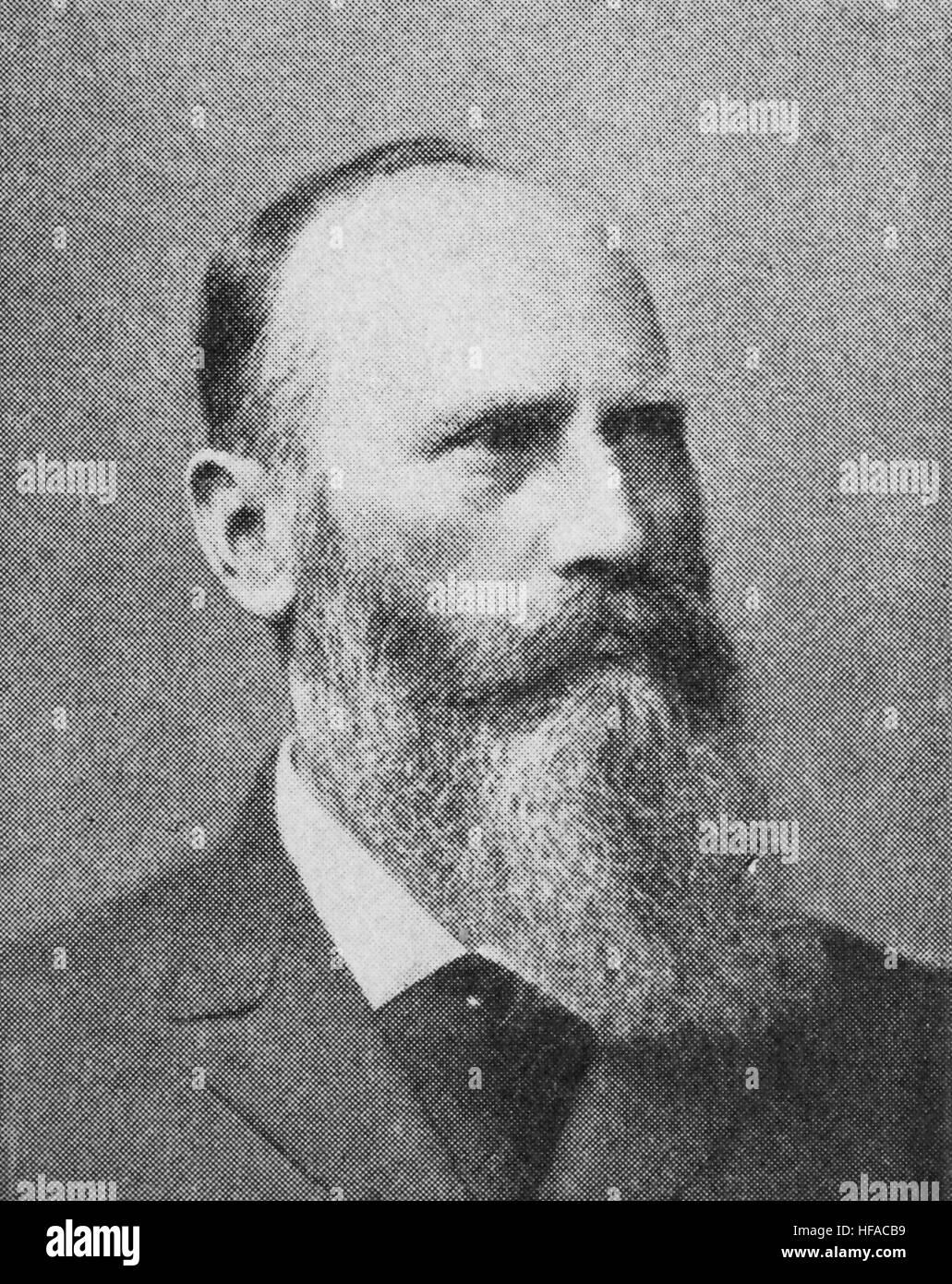 Heinrich Wilhelm Gottfried von Waldeyer-Hartz, 1836-1921, a German anatomist, famous for consolidating the neuron - Stock Image