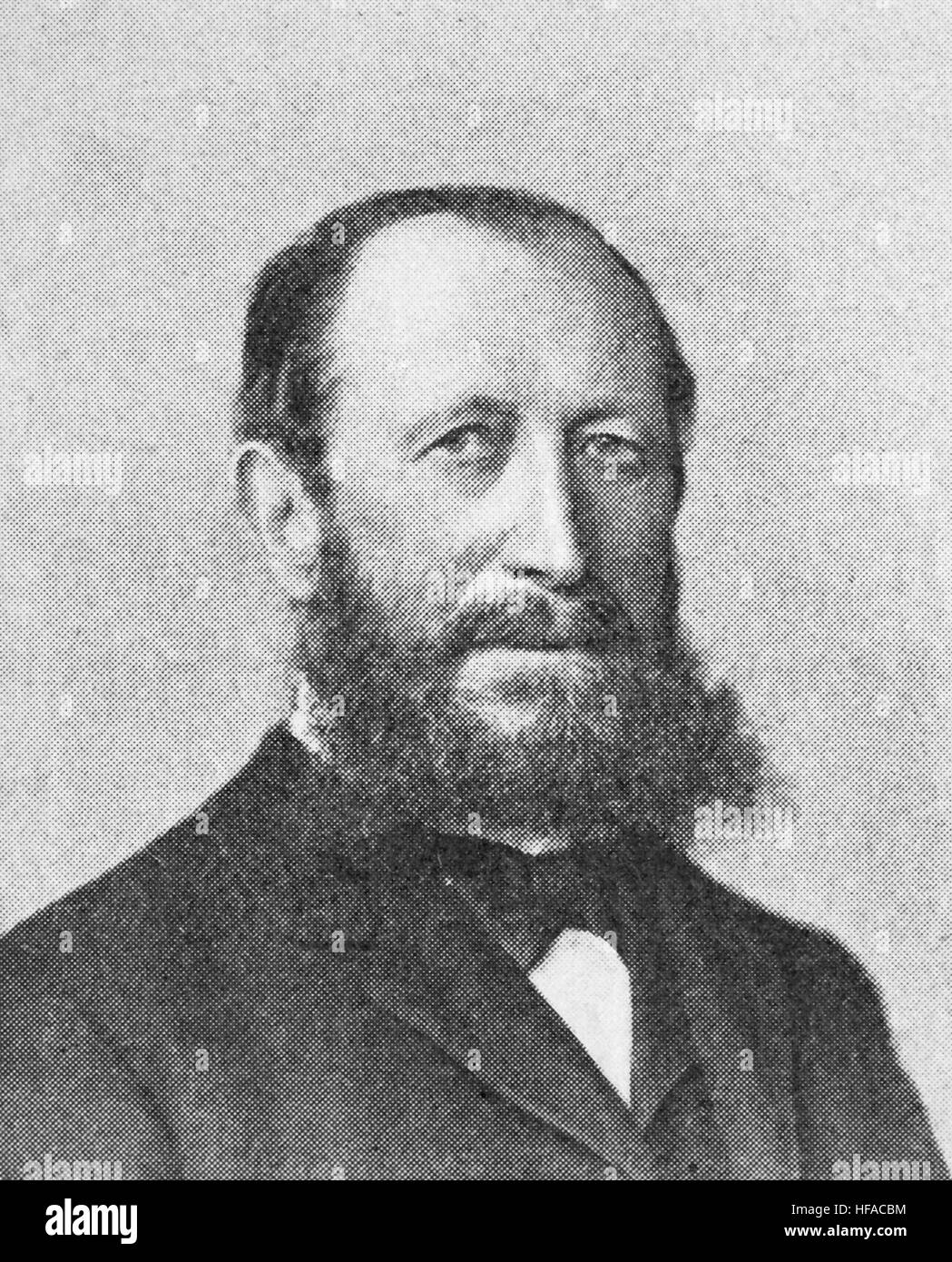 Hermann Senator, 1834 -1911, a German internist, reproduction photo from the year 1895, digital improved - Stock Image