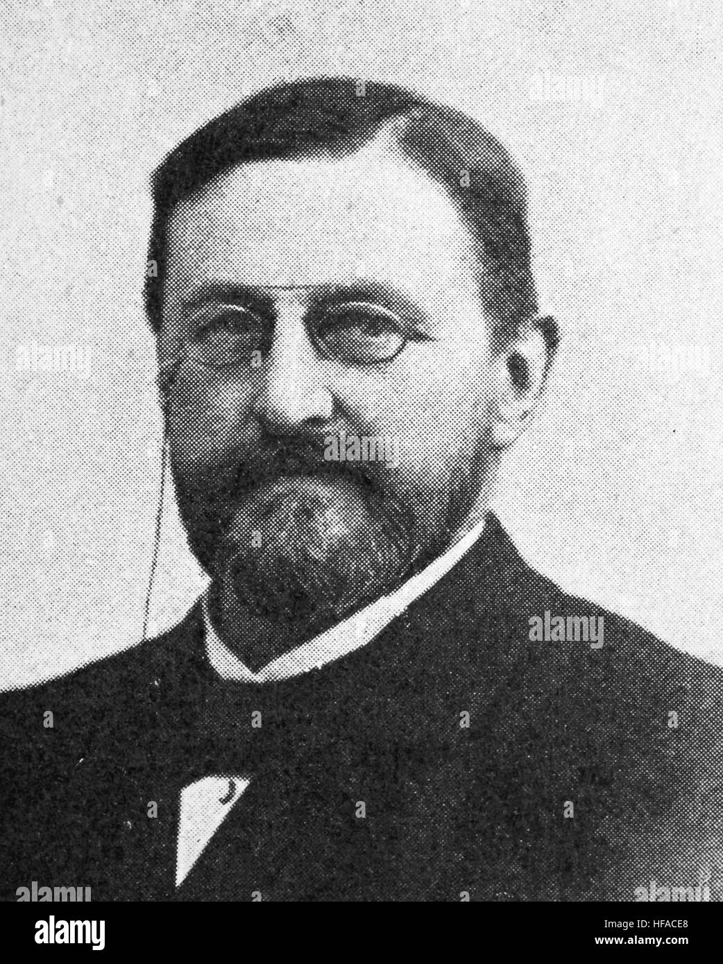 Friedrich Sigmund Merkel, 1845-1919- a leading German anatomist and histopathologist of the late 19th century, reproduction - Stock Image