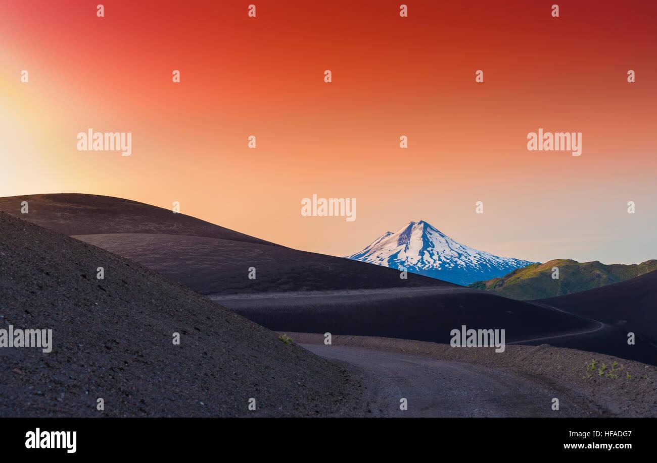 LLaima volcano, Chile - Stock Image