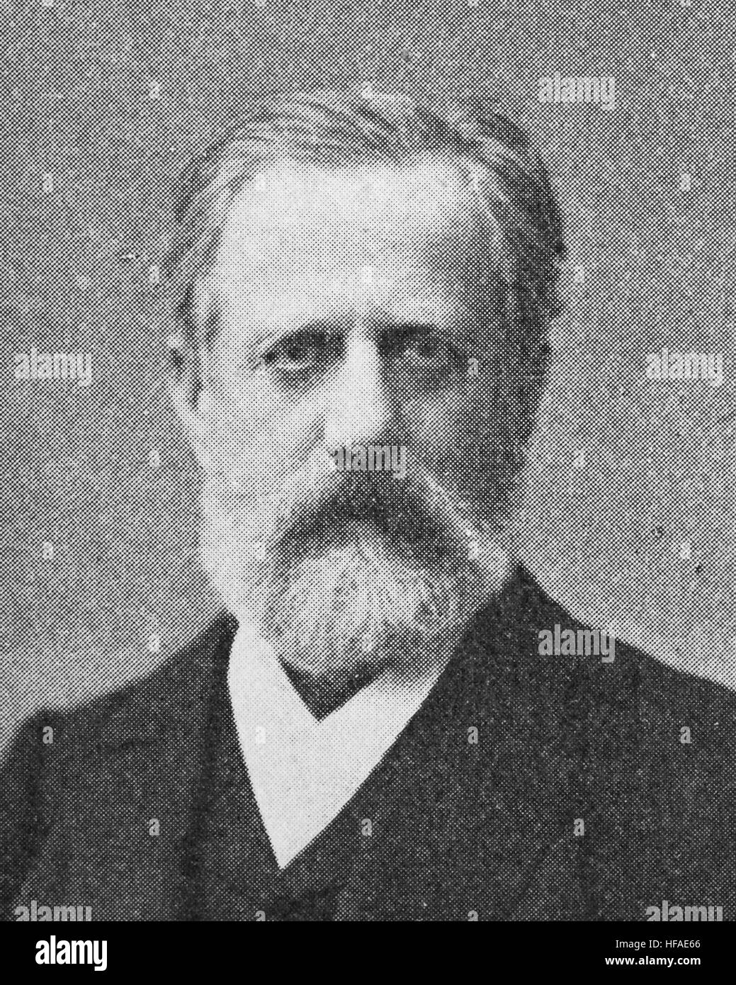 Heinrich Brunner, 1840-1915, was a German historian, reproduction photo from the year 1895, digital improved - Stock Image