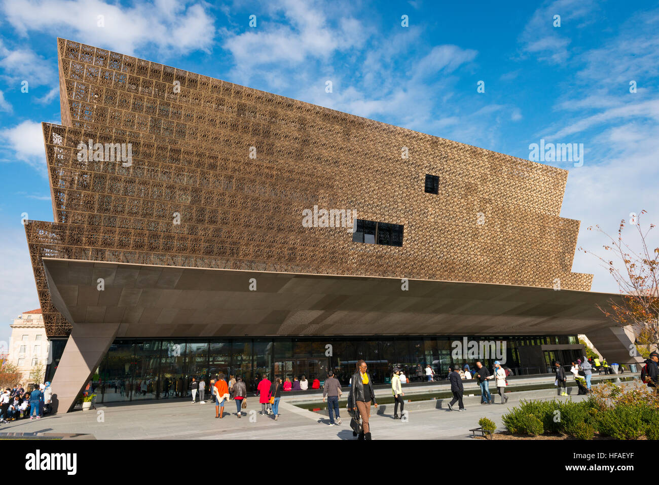 USA capital Washington DC District Columbia National Museum of African American History & Culture facade frontage - Stock Image