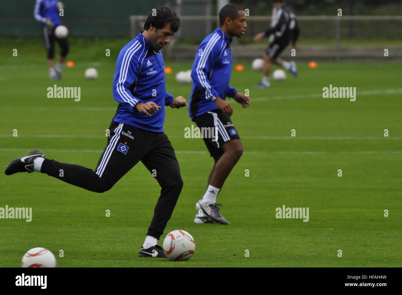 HSV-Training, Ruud van Nistelrooy, Imtech-Arena, Hamburg, Deutschland. Editorial use only. - Stock Image
