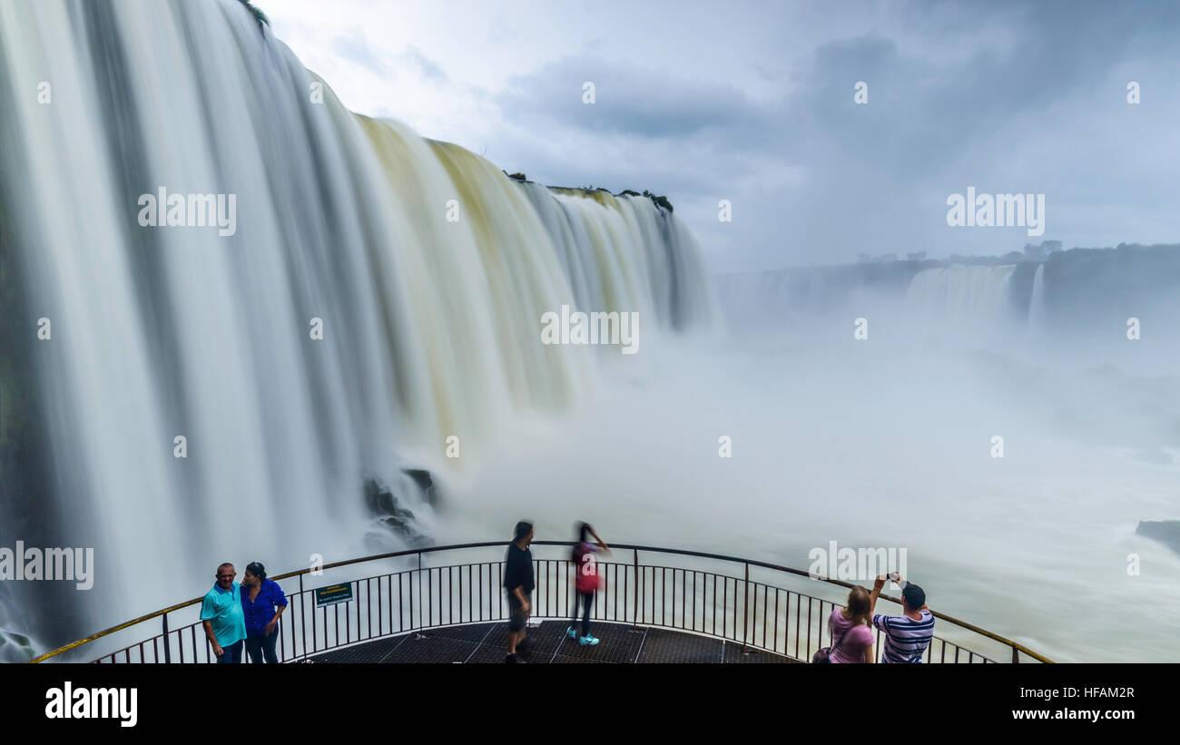 The Iguazu Falls, Brazil - Stock Image
