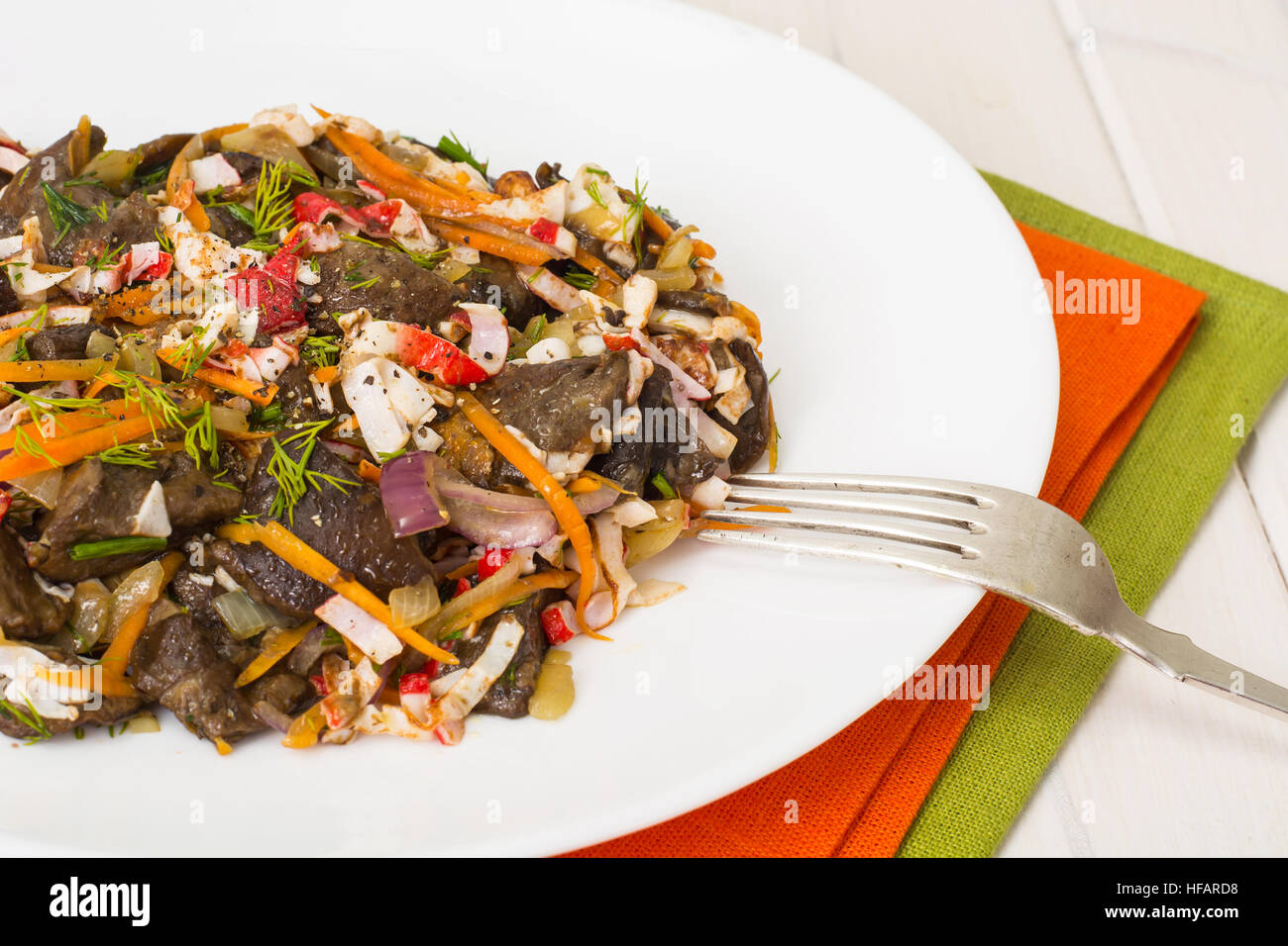 Variations of salad with mushrooms and crab sticks: recipes with photos 63