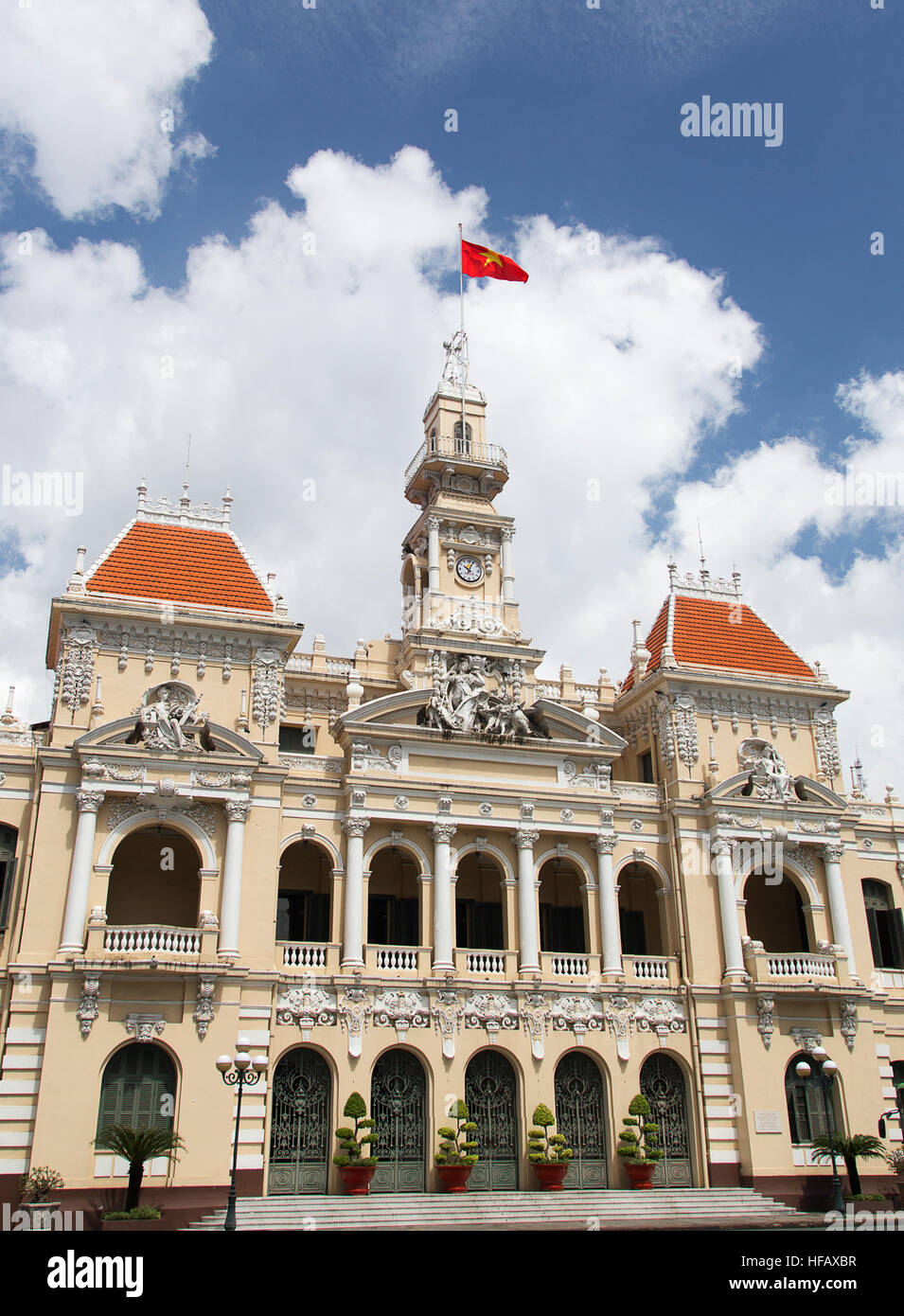 The Peoples' Committee Building Ho Chi MInh City (Saigon) Vietnam. - Stock Image