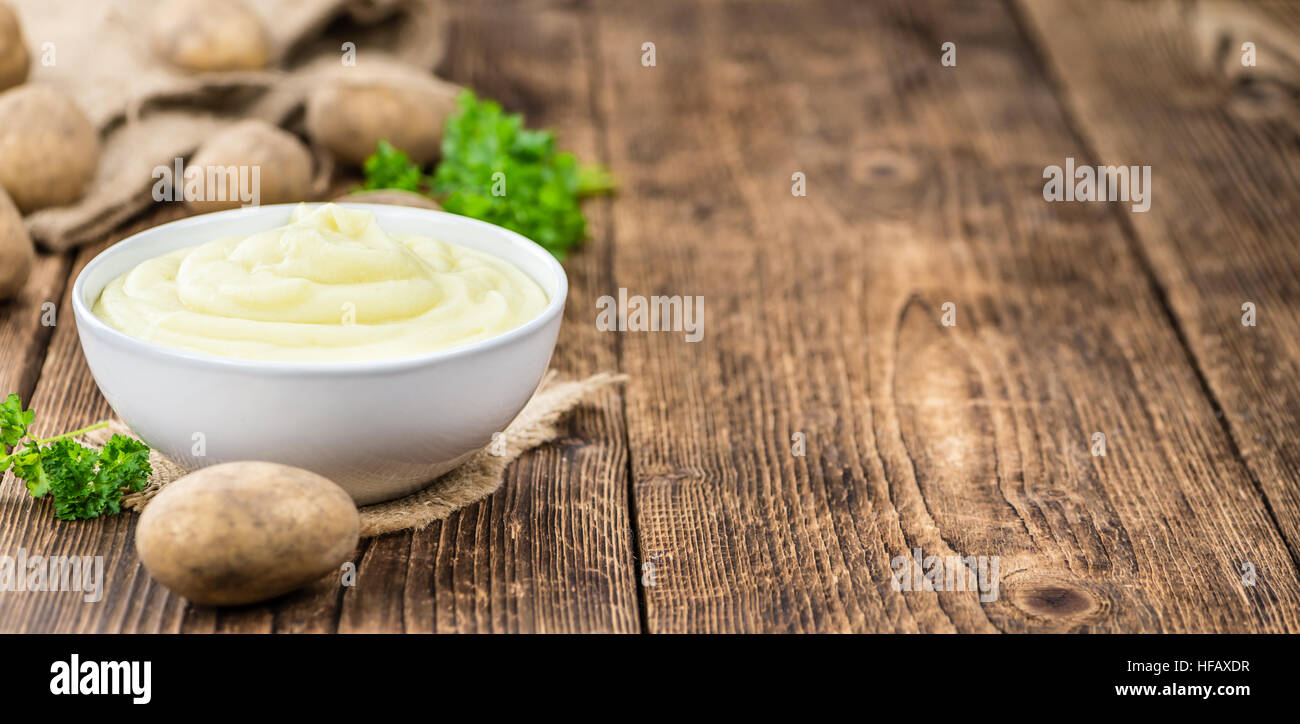 Some homemade Mash (selective focus) as detailed close-up shot) Stock Photo