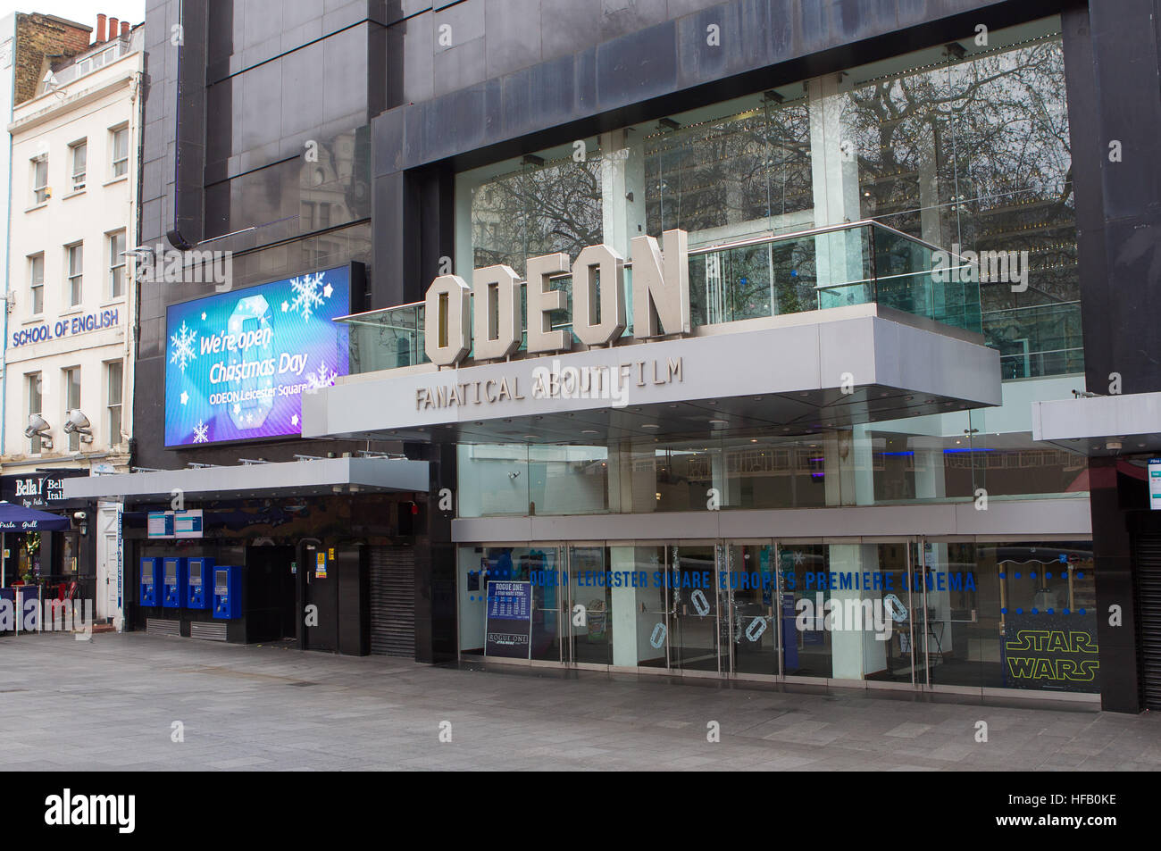 General View GV of The Odeon Leicester Square cinema - Stock Image