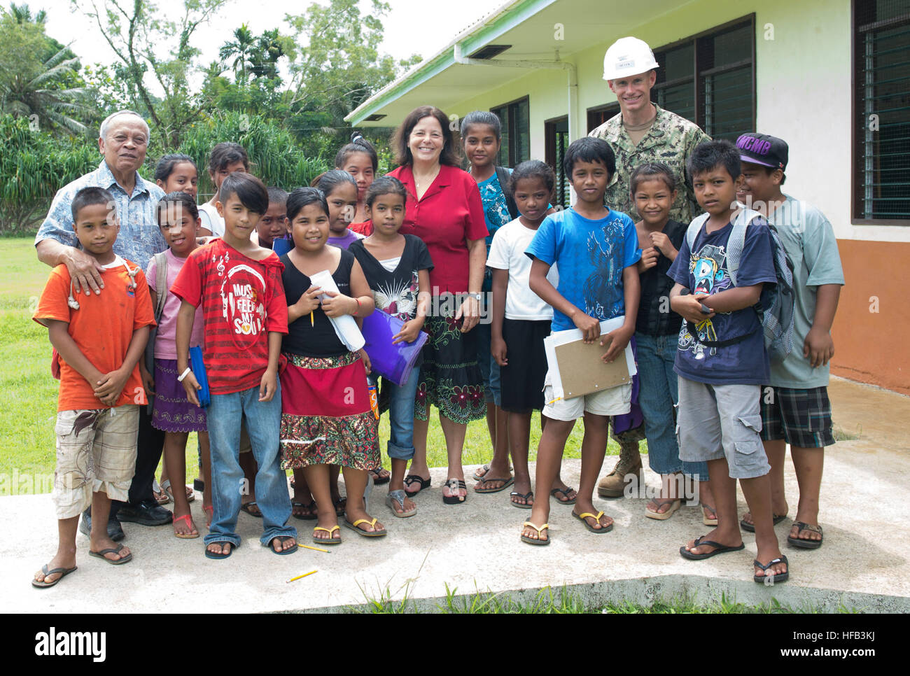 150625-N-RB060-013  POHNPEI (June 25, 2015) - Vice President of the Federated States of Micronesia, Yosiwo George, - Stock Image
