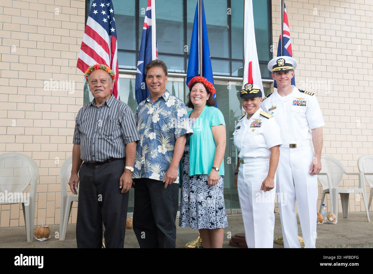150622-N-MK341-035 Kolonia, POHNPEI, (June 22, 2015) – (Left to right) Federated States of Micronesia, Vice President - Stock Image