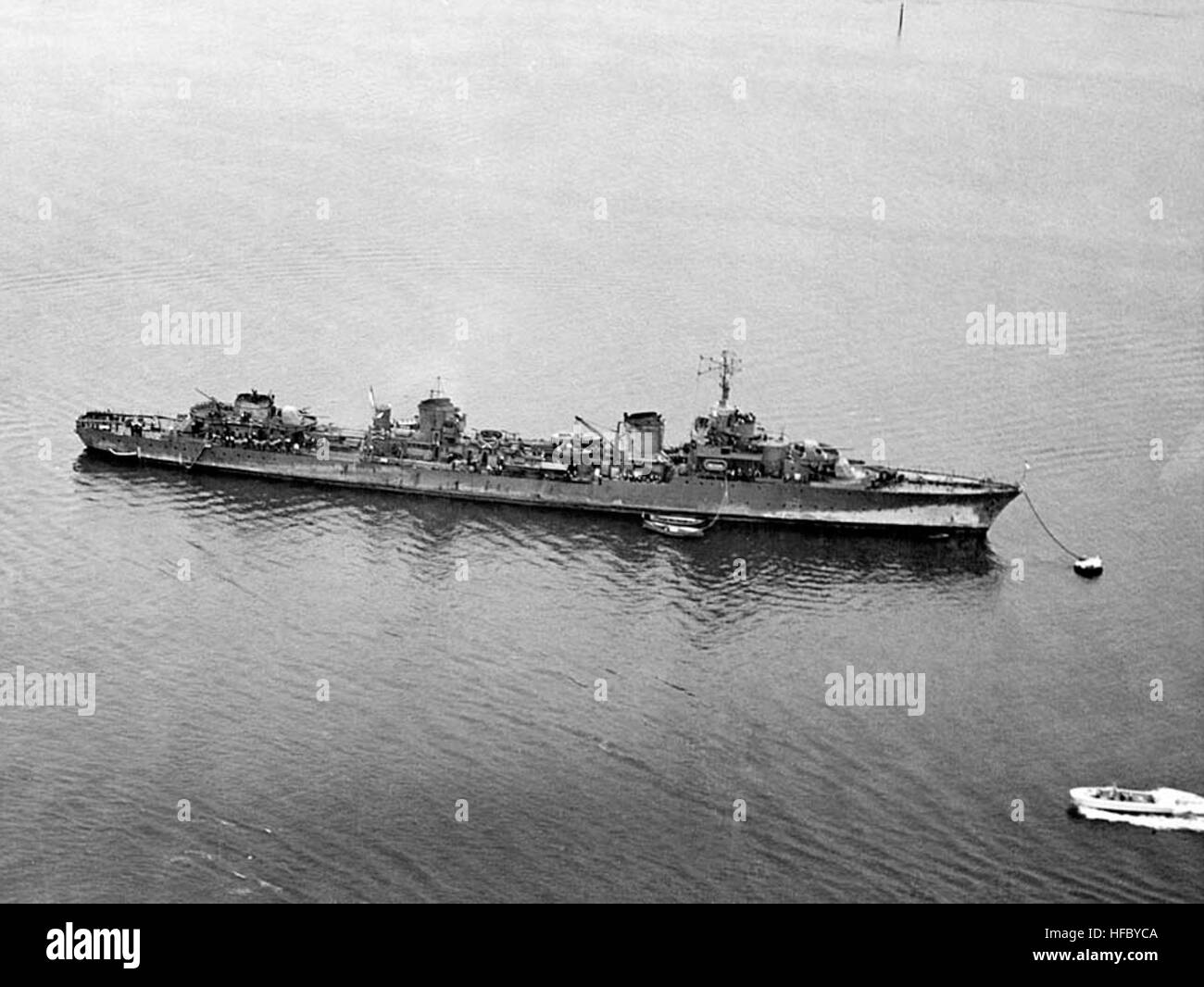 (French Destroyer, 1934)  Moored off San Diego, California, circa 26 April 1941. Photographed from a USS Saratoga - Stock Image