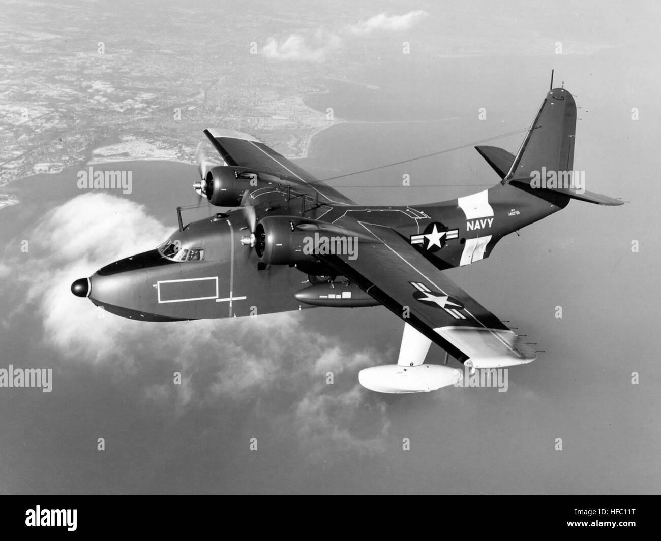 Grumman UF-1 Albatross USN in flight 1950s Stock Photo