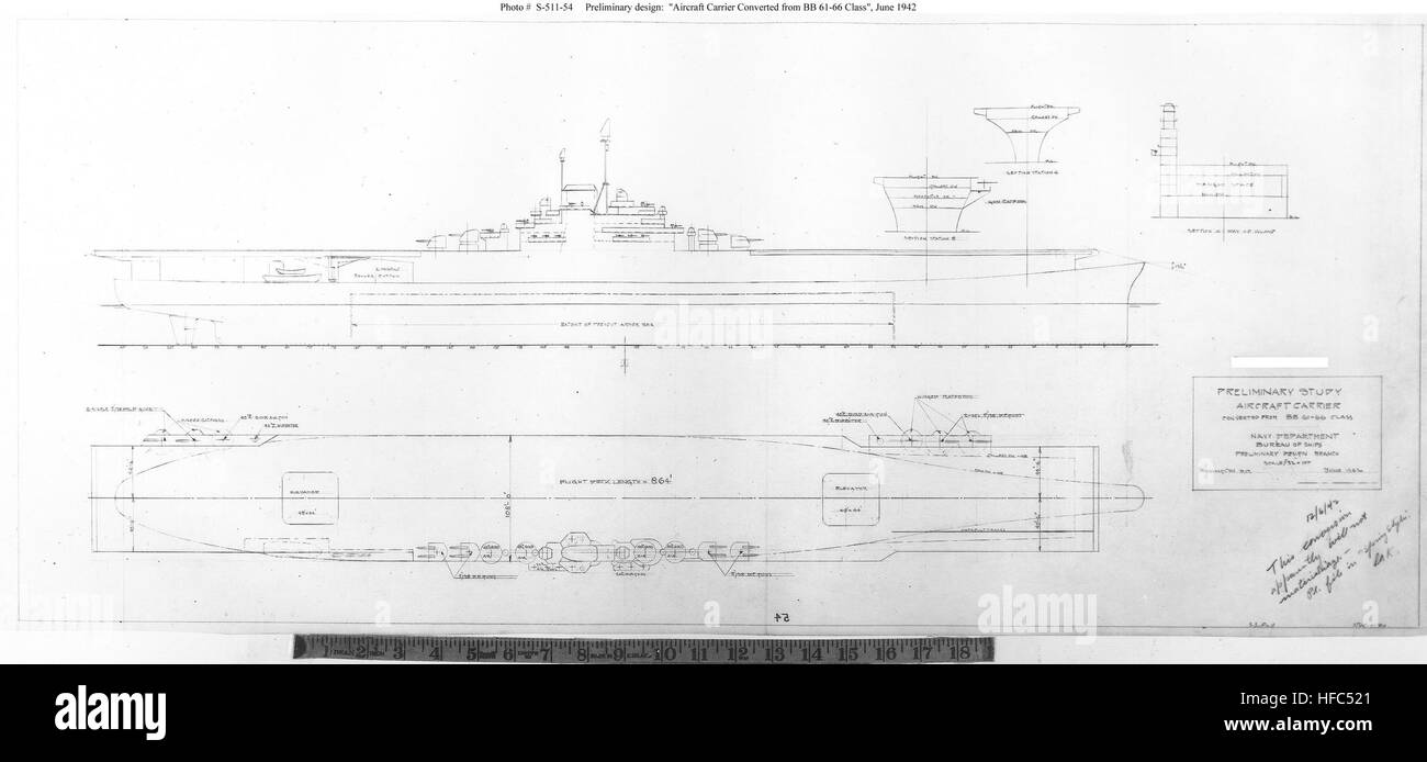 Iowa cl aircraft carrier Stock Photo: 129959817 - Alamy Aircraft Carrier Schematic on