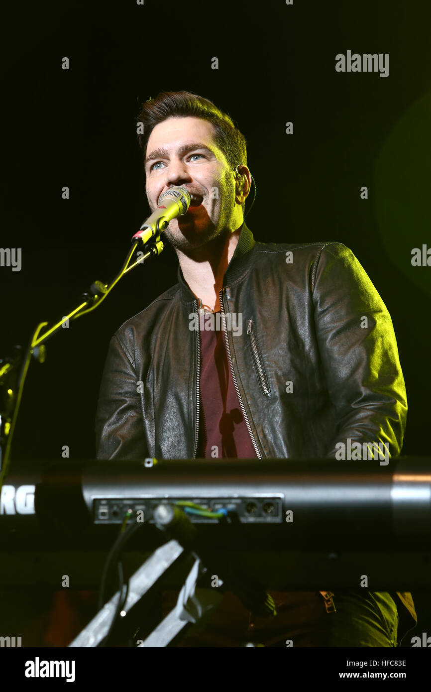 Singer Andy Grammer performs in concert at The Paramount on
