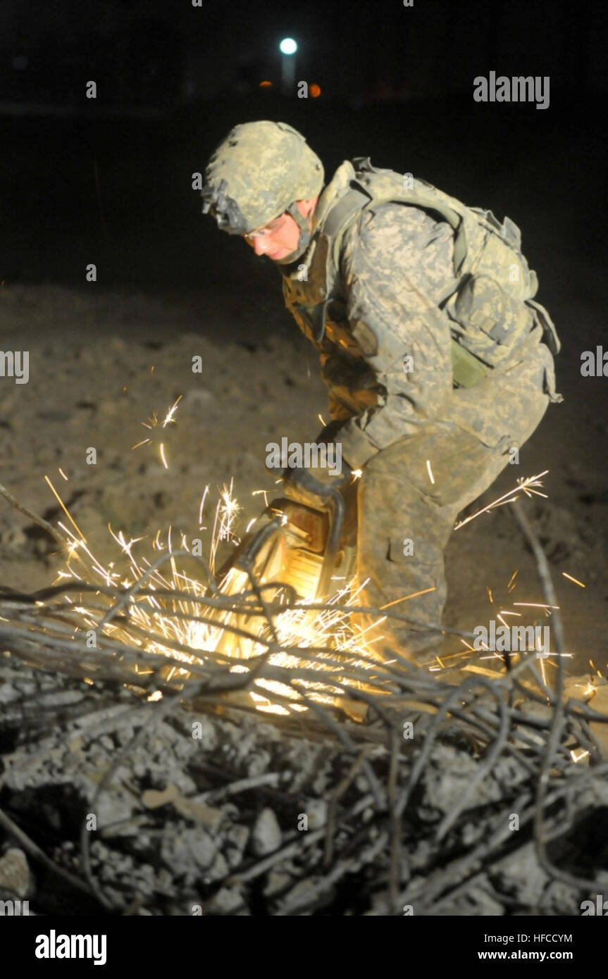 U.S. Soldiers of the 1st Cavalry Division, 225 Engineering Brigade, Alpha Company 46th Engineer Combat Battalion - Stock Image
