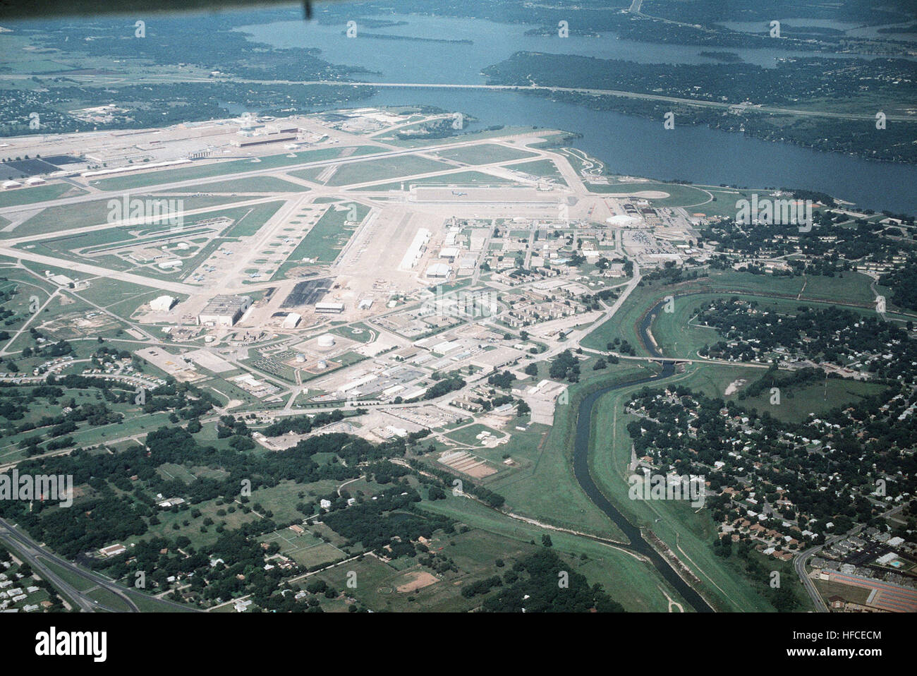 High Oblique Aerial View Looking East Of Naval Air Station Fort Worth Joint Reserve Base This Consolidated Military Airfield Is Under