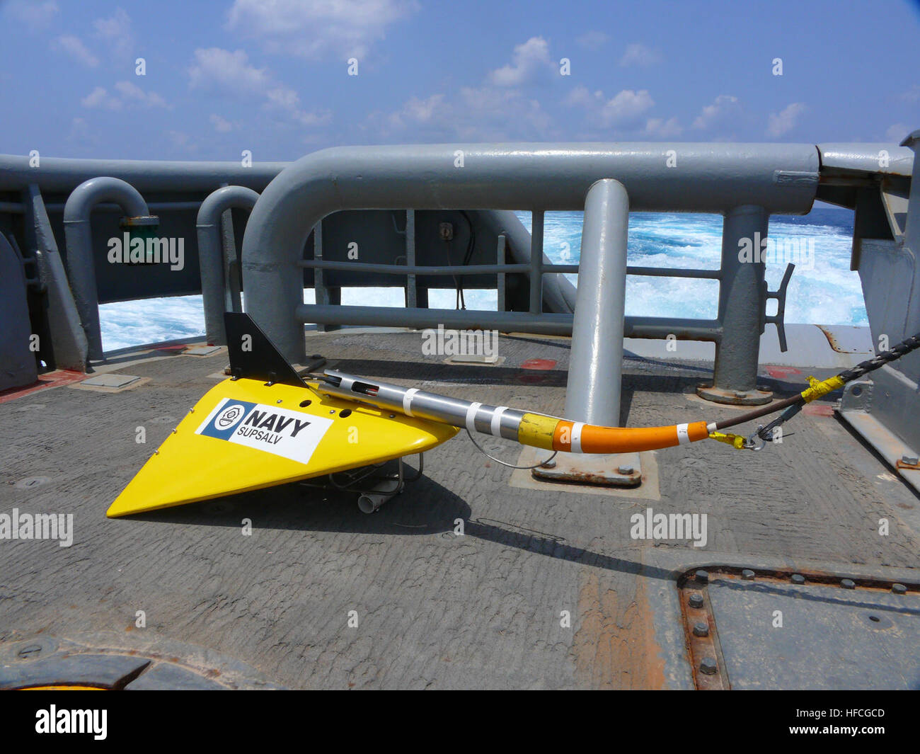An undated file photo of a U.S. Navy Towed Pinger Locator 25 system released by the Navy March 24, 2014, in Washington, - Stock Image
