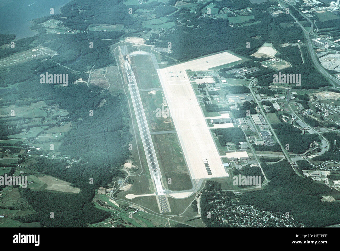 High Oblique Aerial View Looking North Of Pease Air National Guard Base This Joint Use Civil And Military Airfield Is Home To The 157th Refueling