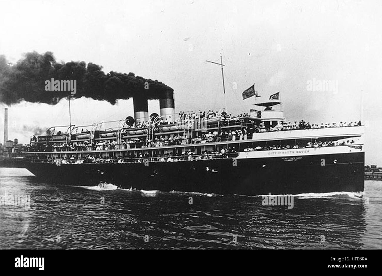 SS City of South Haven (American Passenger Steamship, 1903) - Stock Image
