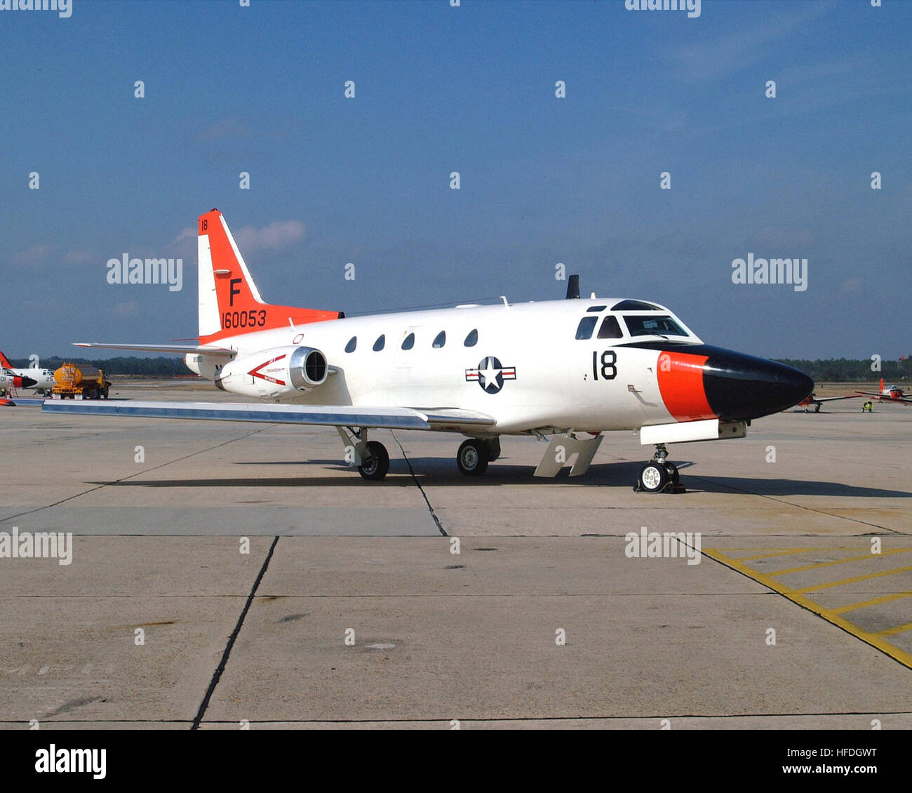 020509-N-0000N-001 Naval Air Station Pensacola, FL (May 9, 2002) -- A twin-jet T-39 ÒSabrelinerÓ multi - Stock Image
