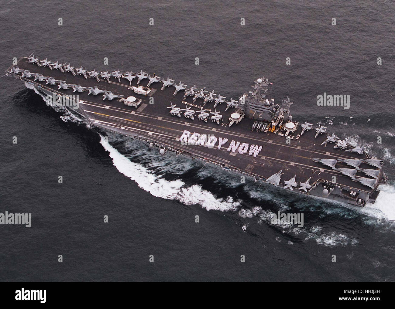 020911-N-3241S-004 At sea aboard USS Abraham Lincoln (CVN 72) Sep. 11, 2002 -- In response to the President's - Stock Image