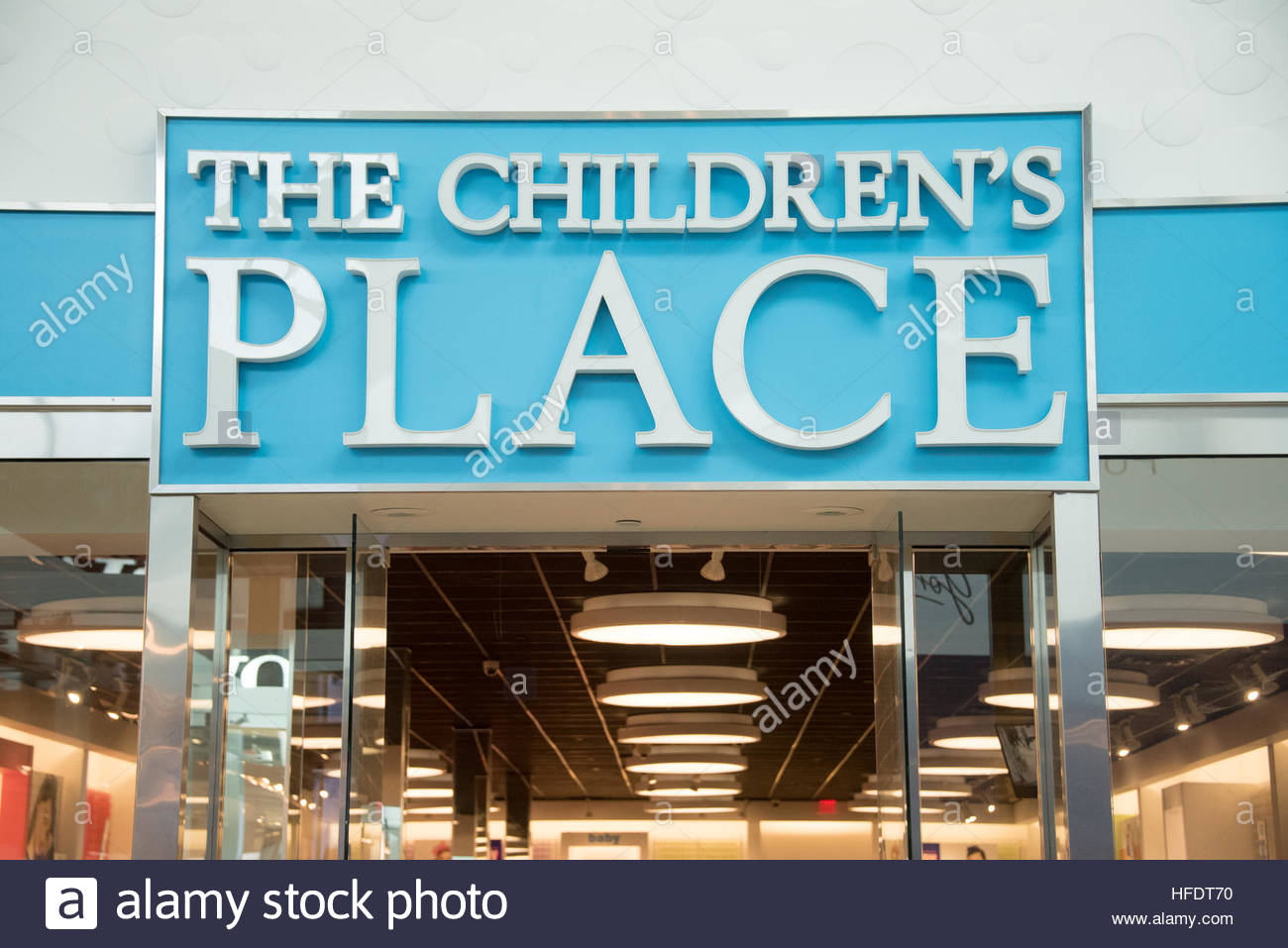 23d5d0755310 The Children's Place store entrance and signage. They are an American  specialty retailer of children's apparel and accessories.