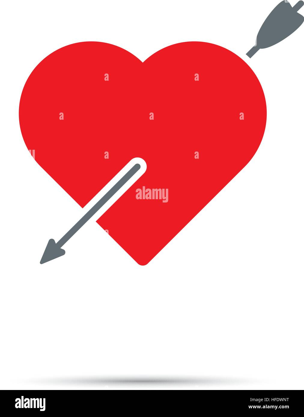 Heart Pierced By Arrow Icon For Valentines Day Cupid S Arrow