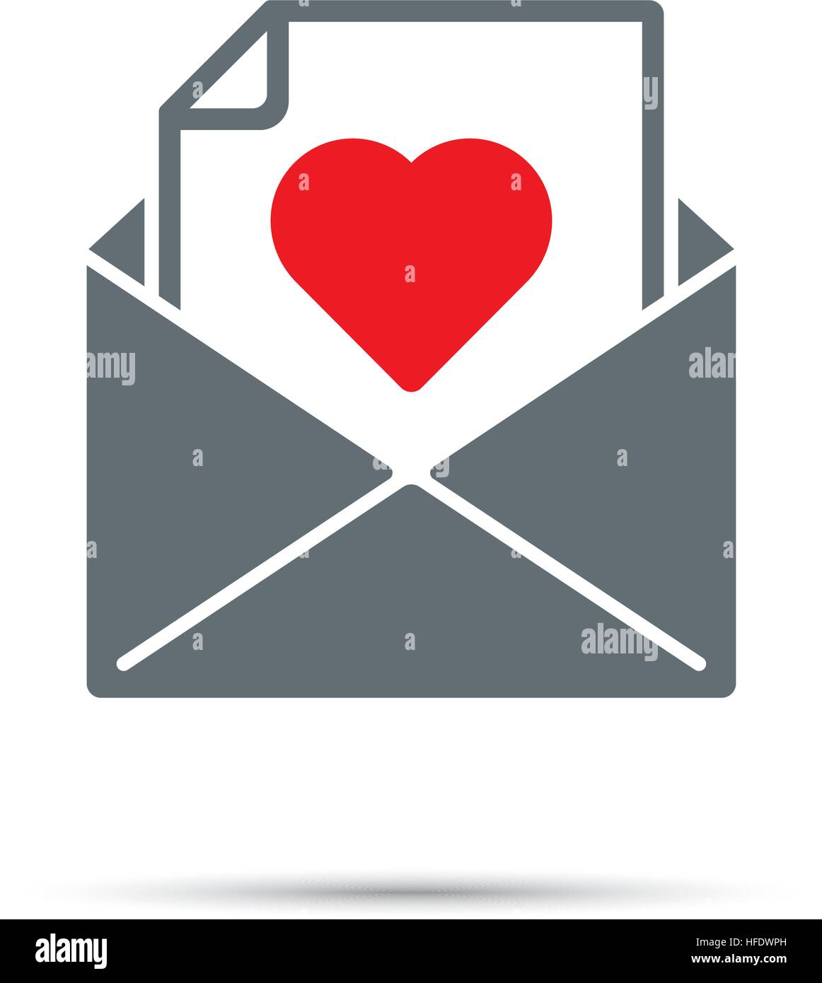 Love Letter In An Envelope Stock Photos & Love Letter In An Envelope ...