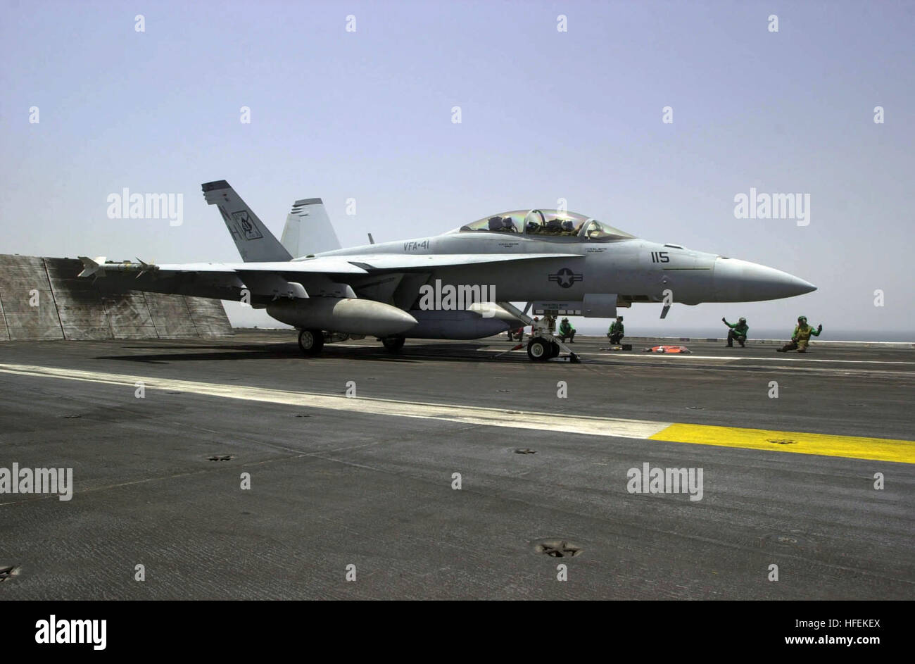 030518-N-2385R-002 Central Command Area of Responsibility (May 18, 2003) -- An F/A-18F Super Hornet assigned to Stock Photo