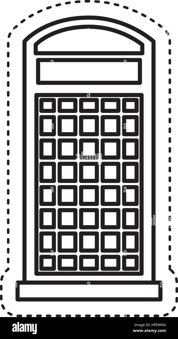 London telephone booth isolated icon vector illustration design - Stock Image
