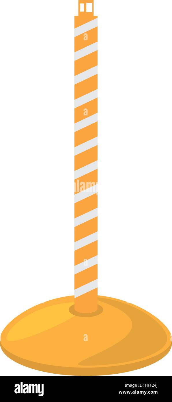 post warning tape fence - Stock Vector