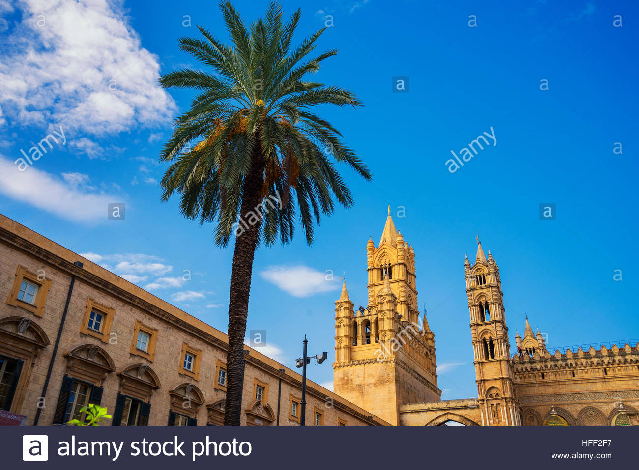 Palermo Cathedral, Palermo, Sicily, Italy, Europe, - Stock Image