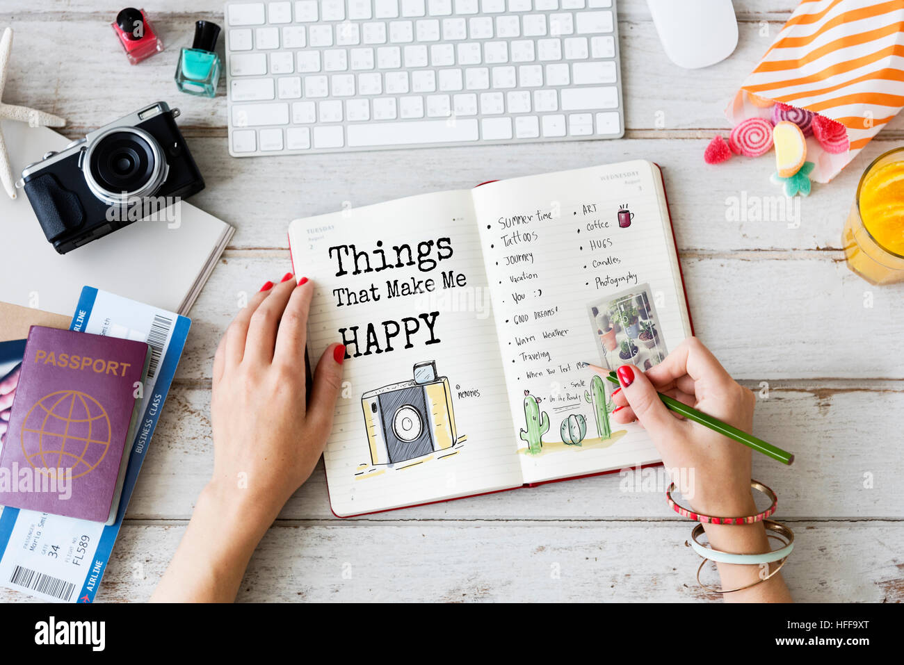 Things That Make Me Happy Concept - Stock Image